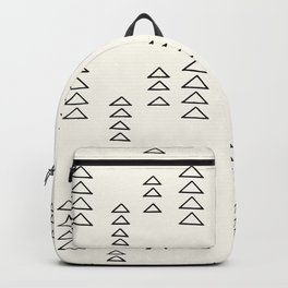 Minimalist Triangle Line Drawing Backpack