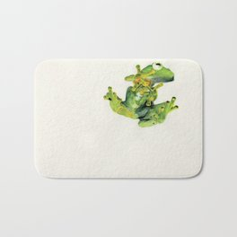 Frog on Glass Bath Mat