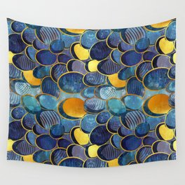 Abstract deep blue Wall Tapestry