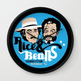 Rice & Beans Sound Poster Wall Clock