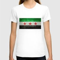 "islam T-shirts featuring The Syrian ""independence flag""  retro style version by Bruce Stanfield"