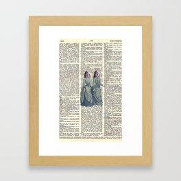 Fish Ladies Framed Art Print