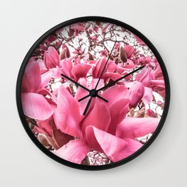 Mellow Magnolia Wall Clock