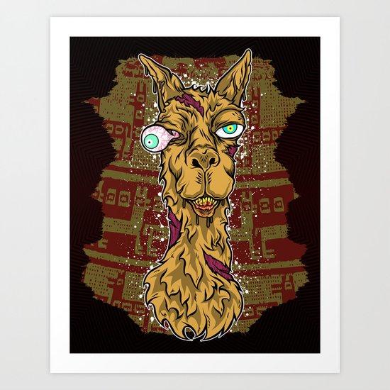 Don't mess with the llama! Art Print