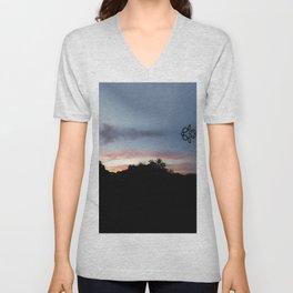 Austin Sunset Unisex V-Neck
