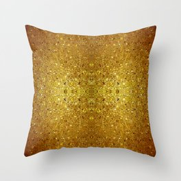 Deep gold glass mosaic Throw Pillow