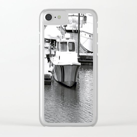 Boats BW Clear iPhone Case