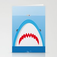jaws Stationery Cards featuring Jaws by Daniel Anastasio