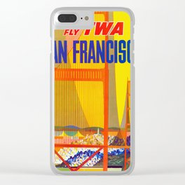 San Francisco - Vintage Airline Travel Poster Clear iPhone Case