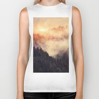 mountains Biker Tanks featuring In My Other World by Tordis Kayma