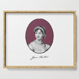 Authors - Jane Austen Serving Tray
