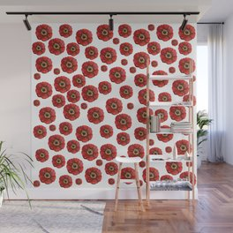 Red Poppies Transparent Design Wall Mural