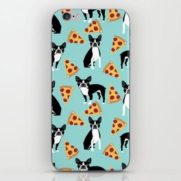 boston terrier pizza dog lover pet gifts cute boston terriers pure breeds iPhone Skin