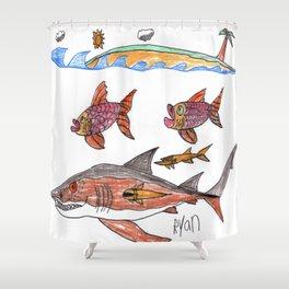 SandTiger Island Shower Curtain
