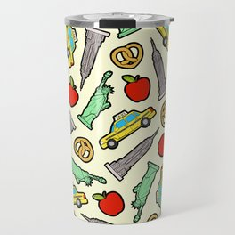 New York, New York Pattern Travel Mug