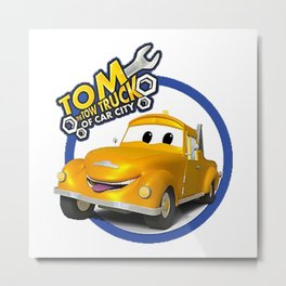 Tom the Tow Truck of Car City Metal Print