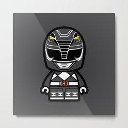 Power Chibi Black Ranger Metal Print