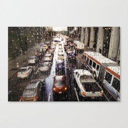 Rainy Rush Hour Canvas Print