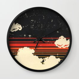 Clouds in the Sky at Night Wall Clock