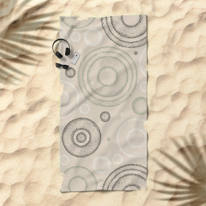Retro Dotted Pattern 03 Beach Towel