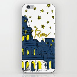 Rome Italy Colosseum Starry night iPhone Skin