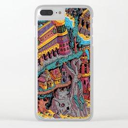 Mumbo Jumbo City (Color) Clear iPhone Case