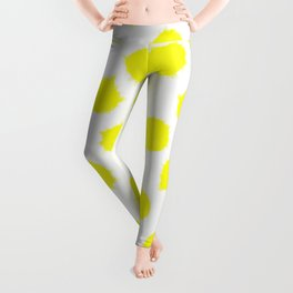 Lemon Drop Polka Dot Bright and Cheery Print Leggings