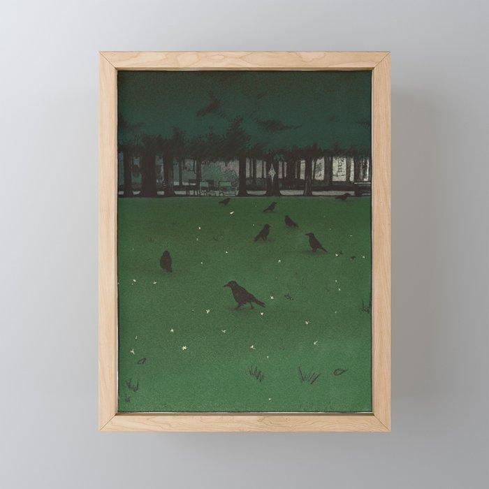 Jardin des Tuileries Framed Mini Art Print