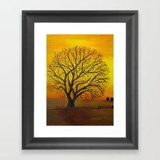 Rural sunset Framed Art Print