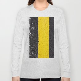 Asphalt with yellow & white lines Long Sleeve T-shirt