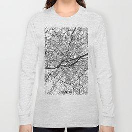 Nantes Map Gray Long Sleeve T-shirt