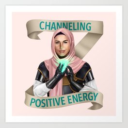 Cleric: Channeling Positive Energy Art Print
