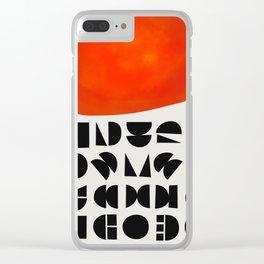 Solar Symbol Clear iPhone Case