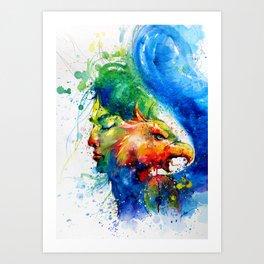 Beauty and the Beast-no.1 Art Print