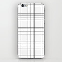 Gray & White Plaid iPhone Skin