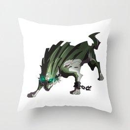 Link Wolf Throw Pillow