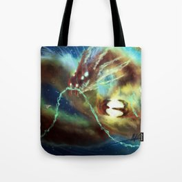Nebula Dragon Tote Bag