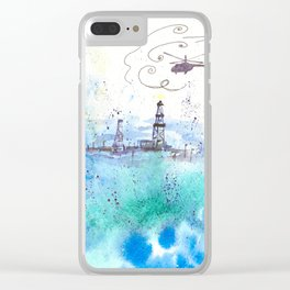 Oil drilling Clear iPhone Case