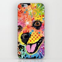 pomeranian iPhone & iPod Skins featuring Pomeranian dog by trevacristina