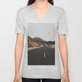 ROAD - BIRD - HILLS Unisex V-Neck