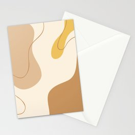 mid century modern Abstract Art Stationery Cards