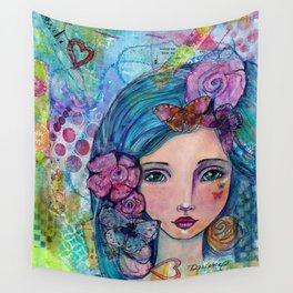Peyton Whimsical Face Wall Tapestry