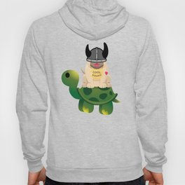 Cool Squad Viking Warrior Pug and Turtle Hoody