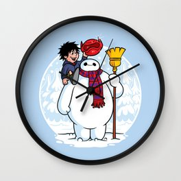 Inflatable Snowman Wall Clock