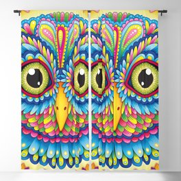 Tropicalia Owl Art Blackout Curtain