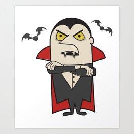 Retro Vintage Dracula Vampire Art Print