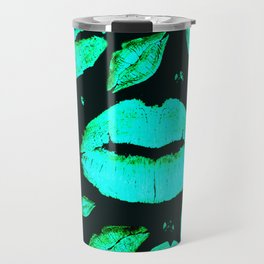 Kisses All Over (Green) Travel Mug
