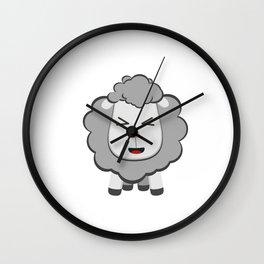 Happy Kawaii Sheep Wall Clock