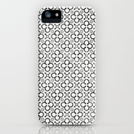 QUATREFOIL BLACK iPhone Case