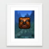 chewbacca Framed Art Prints featuring Chewbacca by Michael Flarup